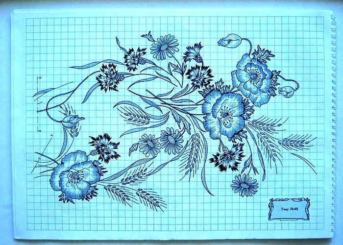 Контурные рисунки для машинной вышивки