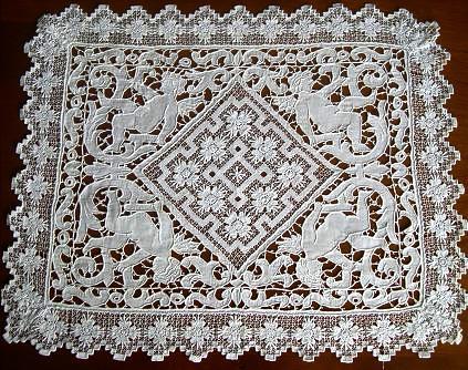 Схема вышивки контурной крестиком