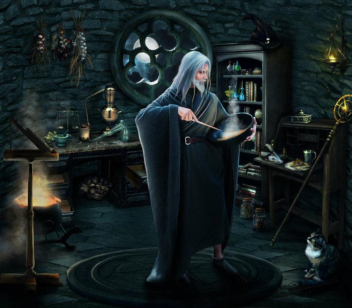 merlin__s_room_by_madamethenadier-d46evwc (700x612, 102Kb)