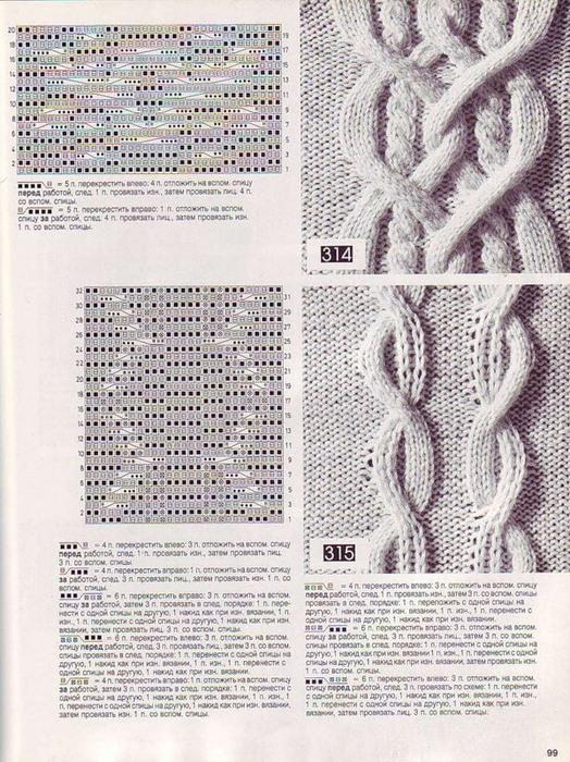 Женский свитер с аранским