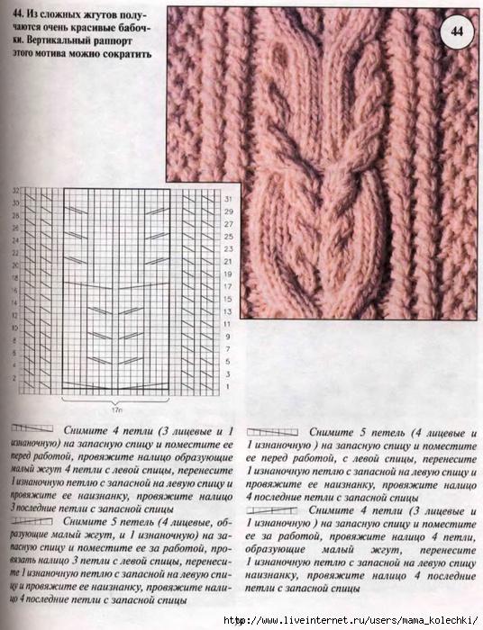Жгуты спицами схемы с описанием