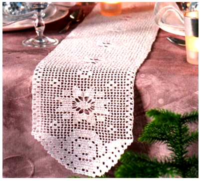 Caminho Anjo em Crochet Filet - (403x363, 317Kb)