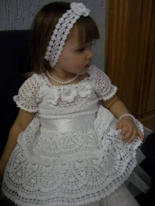 Вязаное Платье Девочки 37