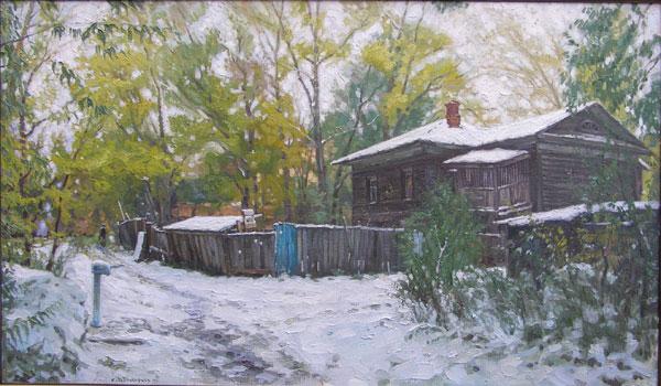 Старая вологда. Первый снег В Григорьев (600x350, 74Kb)