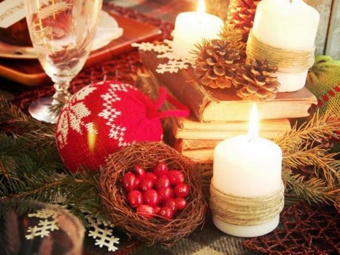 Украшения для новогоднего интерьера своими руками
