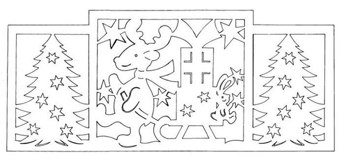 Новогодние схемы для киригами.