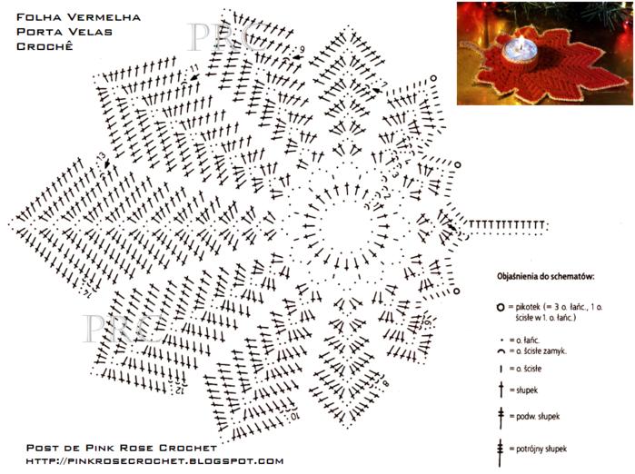 Folha VermelhaP Velas Croche de Natal gr. PRoseCrochet (700x522, 329Kb)