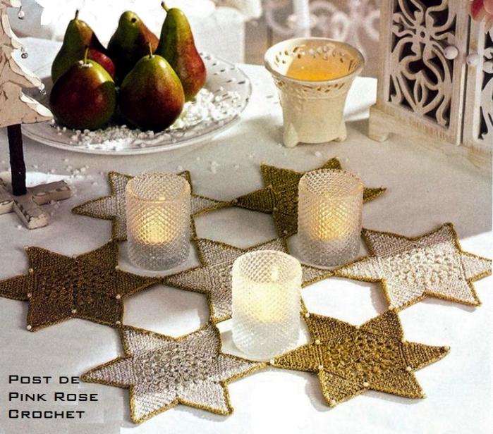 Centrinho de Croche Estrella de Navidad .. PRoseCrochet (700x616, 835Kb)