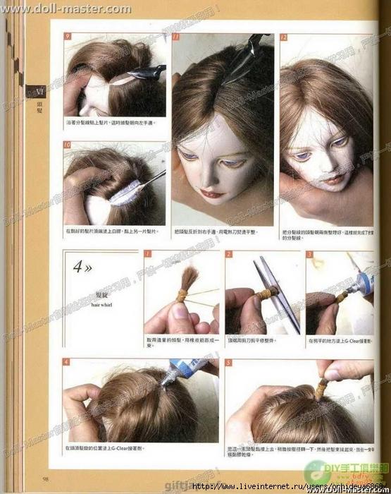 прическа кукле трессы