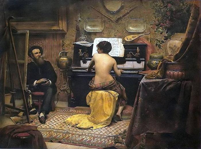 Almeida Junior, Jose Ferraz de (1850-1899) - O descanso da modelo, 1882 (700x522, 312Kb)