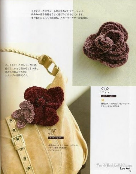 Hand Knitted Corsages 70 (453x576, 65Kb)