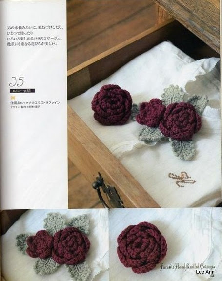 Hand Knitted Corsages 74 (455x576, 67Kb)