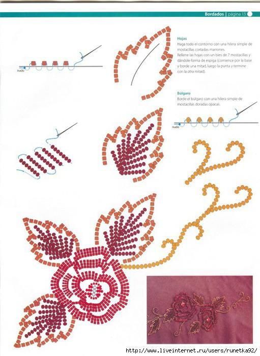 Вышивки бисером и пайетками схемы 9