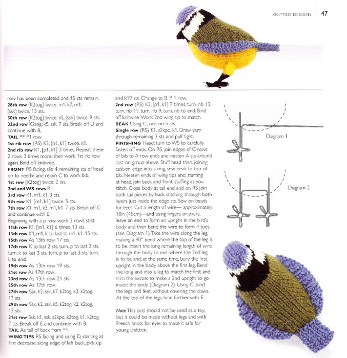 Вязание крючком для птиц 817