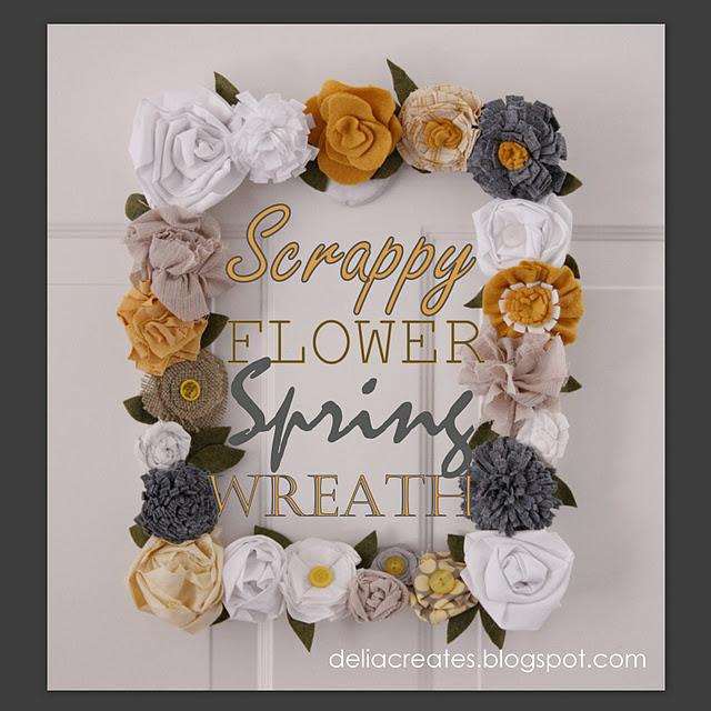 Scrappy Spring Flower Frame (640x640, 113Kb)
