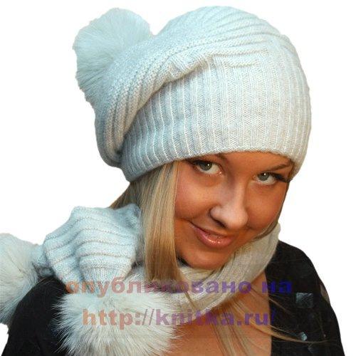 вязание шапки описание и