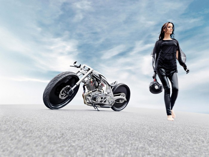 Akrapovic Morsus  - дизайнерский кастом-байк от Dreamachine Motorcycles