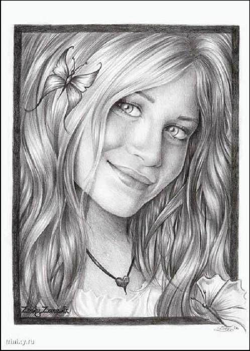 Рисунки карандашом (36 фото) .