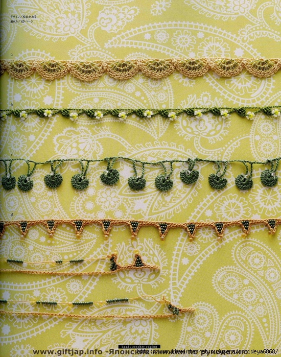 Beads Crochet Edging.