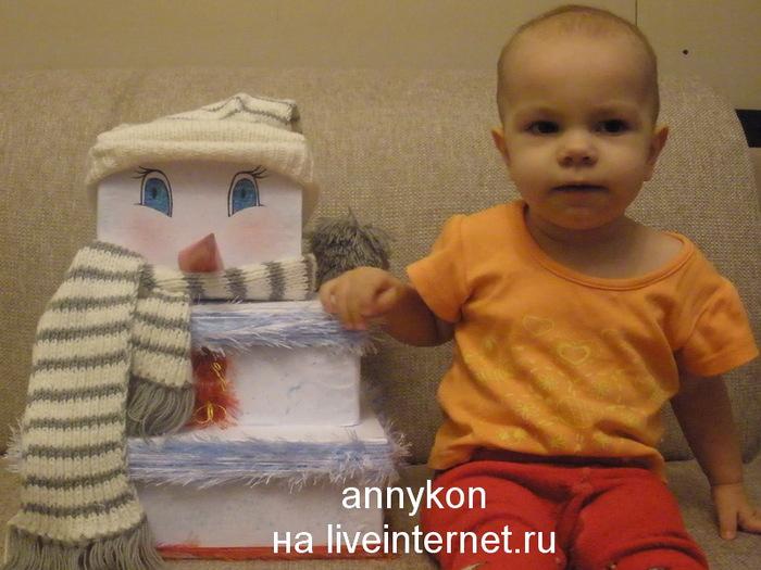 снеговик из коробок с девочкой/4668337_____ (700x525, 115Kb)