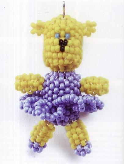 Медвежонок - балерина.  Сделайте эту восхитительную подвеску-медвежонка для маленькой девочки.