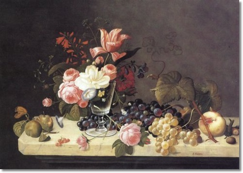 american-artist-art-painting-print-by-severin-roesen-flowers-and-fruit-approximate-original-size-25x35[1] (500x356, 50Kb)