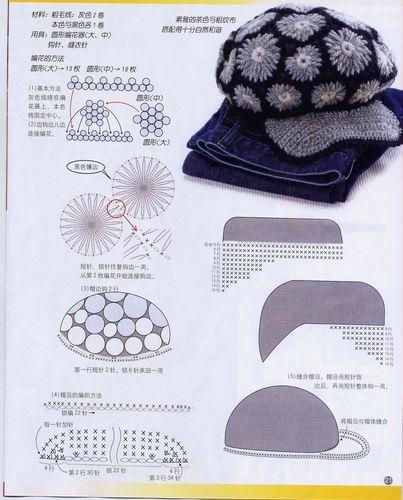 Для вязания шапки использована толстая шерстяная пряжа, за счет чего эта шапка получилась очень теплая.