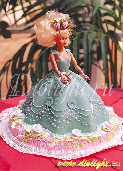 Торт Кукла из мастики или крема  Барби Винкс Монстер