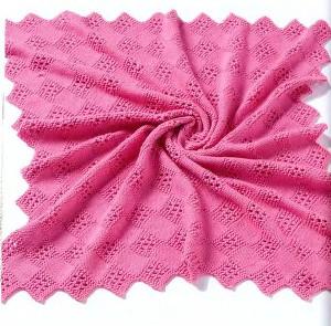 114 м) Classic Elite Yarn Inspiration (кашемир/хлопок) розовый; круговые...  Плед детский, вязаный спицами.