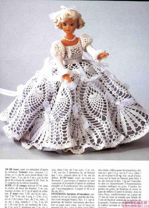 Вязаное платье для куклы своими руками