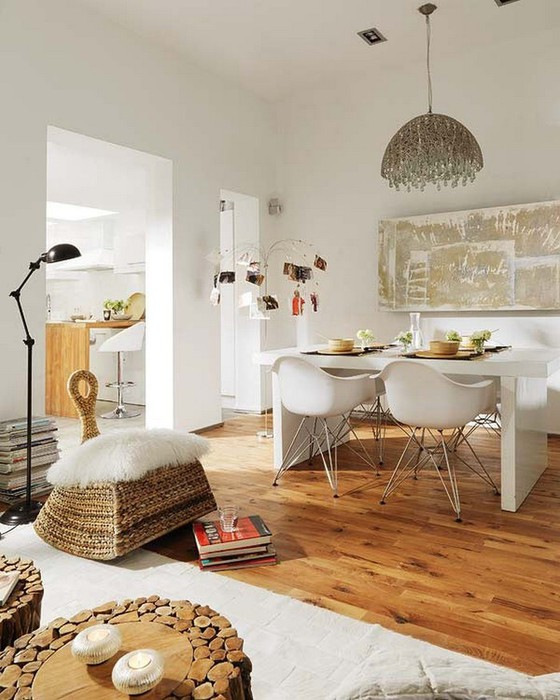 Белый интерьер квартиры в Барселоне