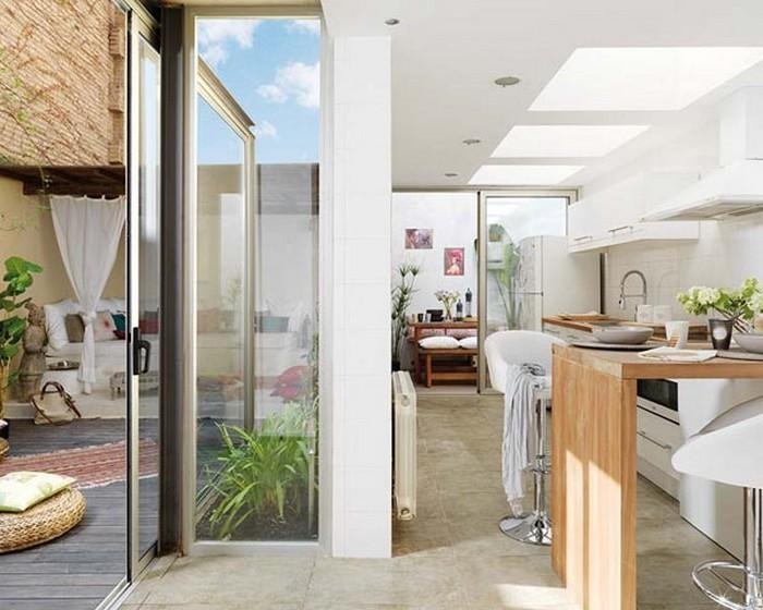 Современная эклектика в интерьере квартиры в Барселоне