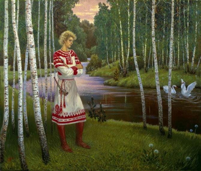 Olshanskiy Boris (1956 - ) I. Surikov'a karşı resminin Penza sanat