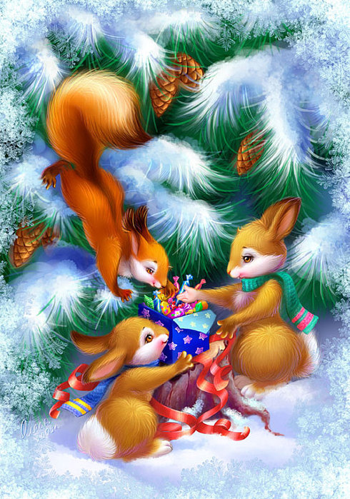 Winter_little_animals_by_OlesyaGavr (490x700, 150Kb)