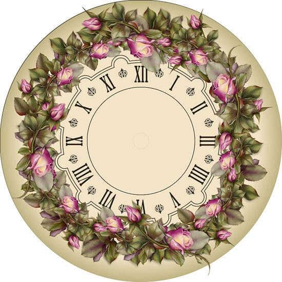 """Схема вышивки  """"Циферблат для часов """" ."""