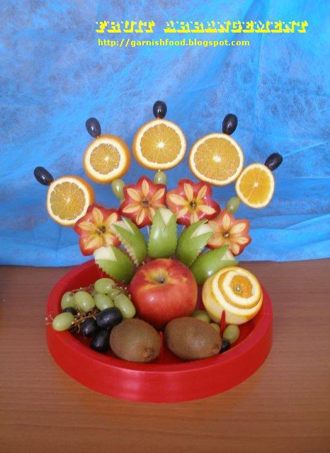 fruit carving display orange apple garnishfood (466x640, 50Kb)