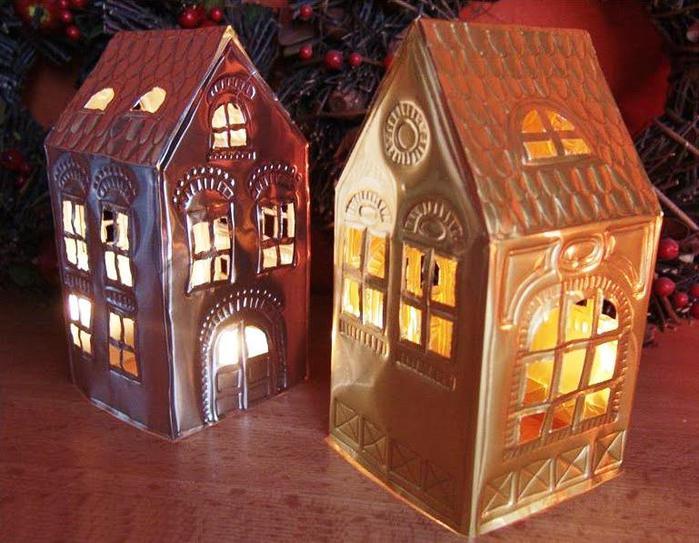 Новогодние домики светящиеся своими руками