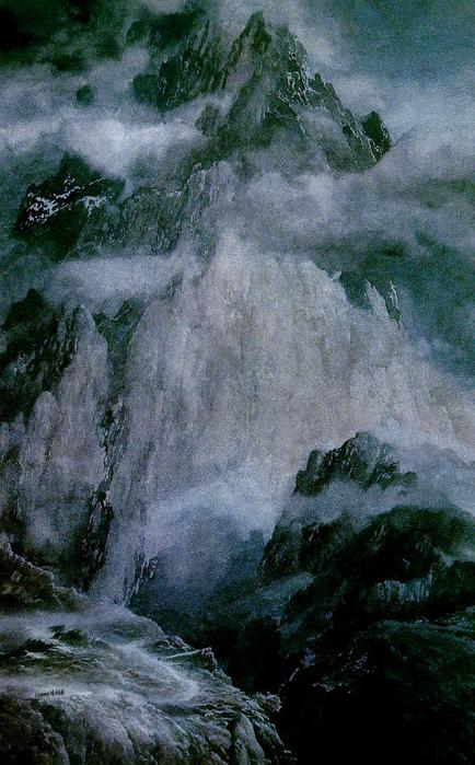 Туманные горы (434x700, 551Kb)