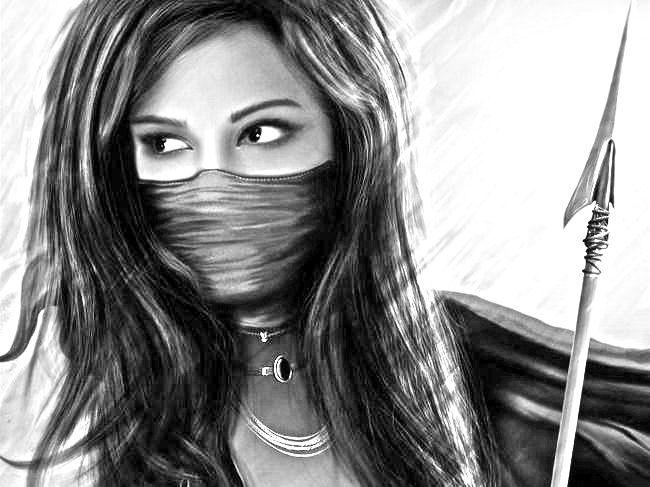 нарисованные девушки фото карандашом: