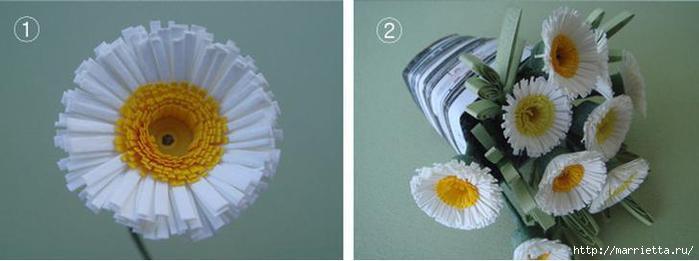 Цветы ромашки из бумаги фото