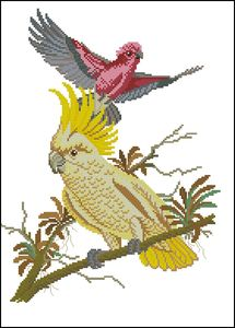 Для того чтобы скачать файл, необходимо.  Pattern Maker (xsd).  Схема вышивки крестом в категории.  Птицы и бабочки.