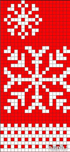 снежинка на красном (241x518, 140Kb)