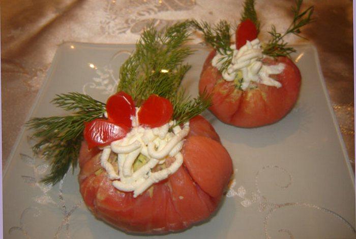 Мешочки с красной рыбой рецепт