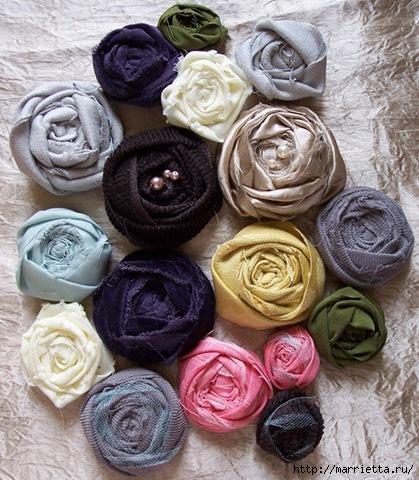 手工教程:各种面料的玫瑰花 - maomao - 我随心动