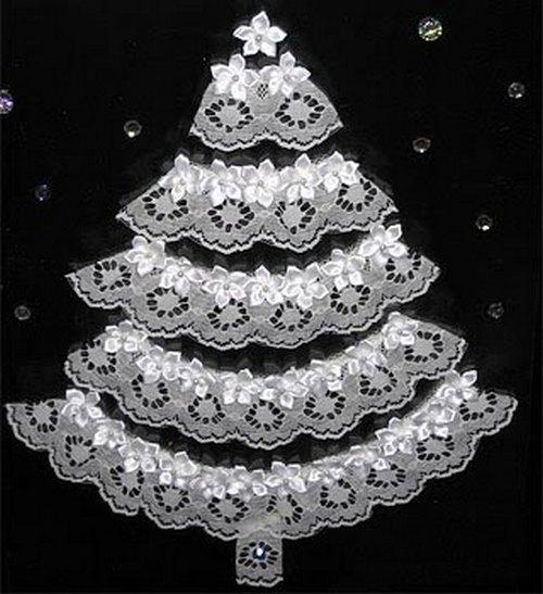 елка из снежинок на стене своими руками Bask company Российская