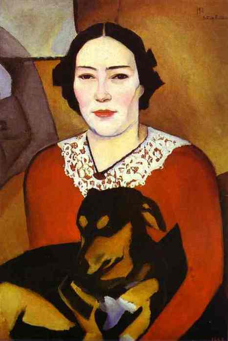 altman10Nathan Altman. Lady with a Dog. Portrait of Esther Schwartzmann. 1911. Oil on canvas mounted on cardboard. 67.5 x 47.5 cm. The Russian Museum, St. Petersburg, Russia. (467x700, 20Kb)