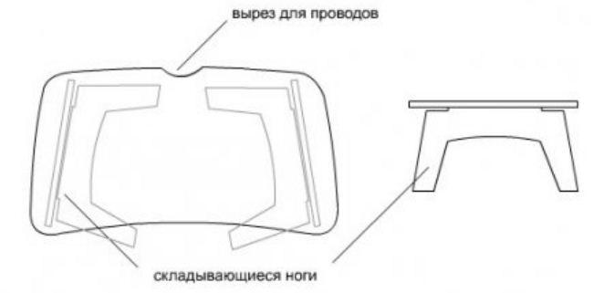 Столик для завтрака своими руками чертежи размеры