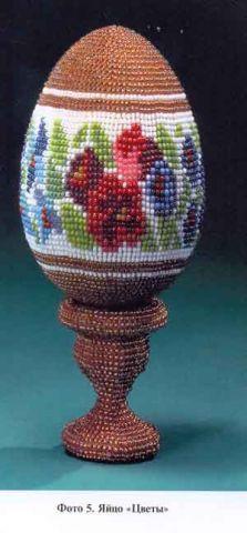 Пасхальное яйцо с орнаментами.
