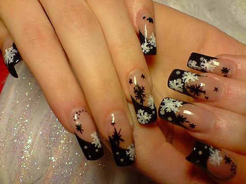 Фото ногтей зимний дизайн