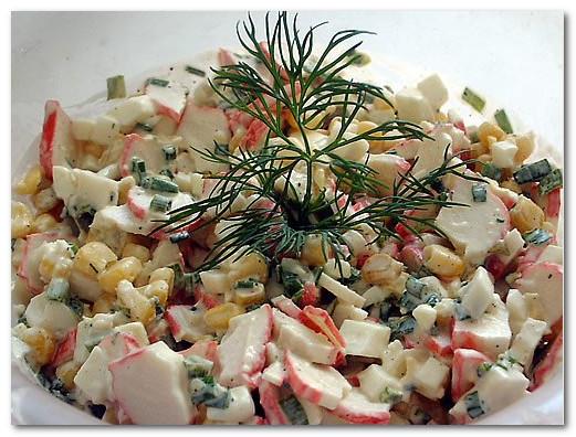 Рецепт салата крабовый